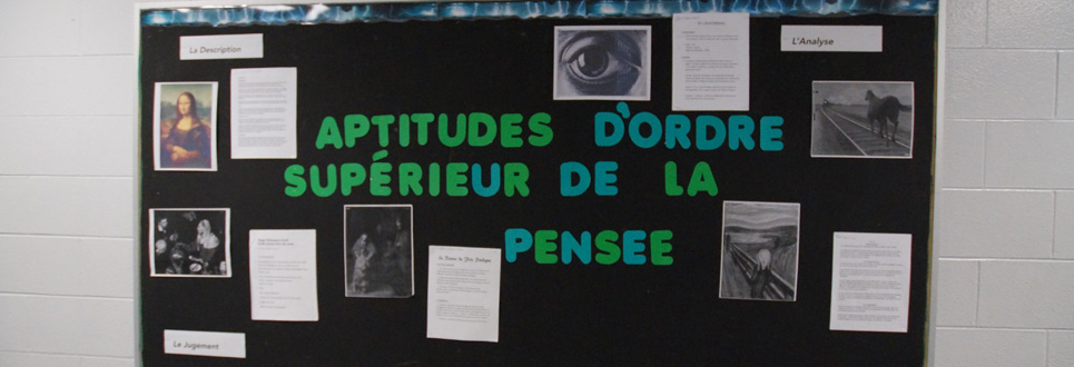 French themed bulletin board.